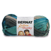 Go to Product: Bernat Softee Chunky Ombres Yarn (80g/2.8oz) in color Deep Waters