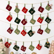 Red Heart Advent Calendar Gift Pockets