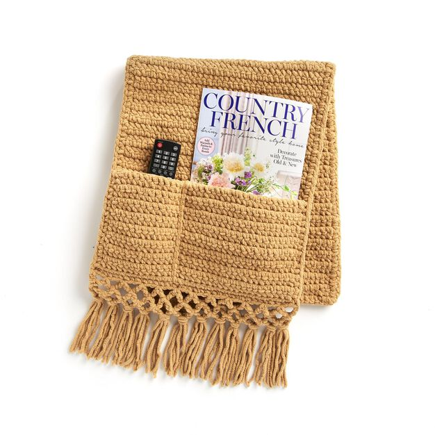 Bernat Hide-Away Crochet Sofa Caddy   Yarnspirations