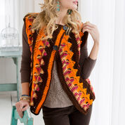 Red Heart Crochet Trapeze Jacket, S