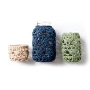 Lily Sugar'n Cream Crochet Mason Jar Cozies, Small