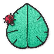 Bernat Lil' Leaf Crochet Play Mat & Ladybug Toy