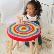 Go to Product: Red Heart Rainbow Burst Stool Cover in color