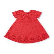 Bernat Fairy Leaves Dress, 6 mos, Little Red Wagon