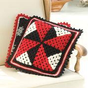 Red Heart Pinwheel Pillow