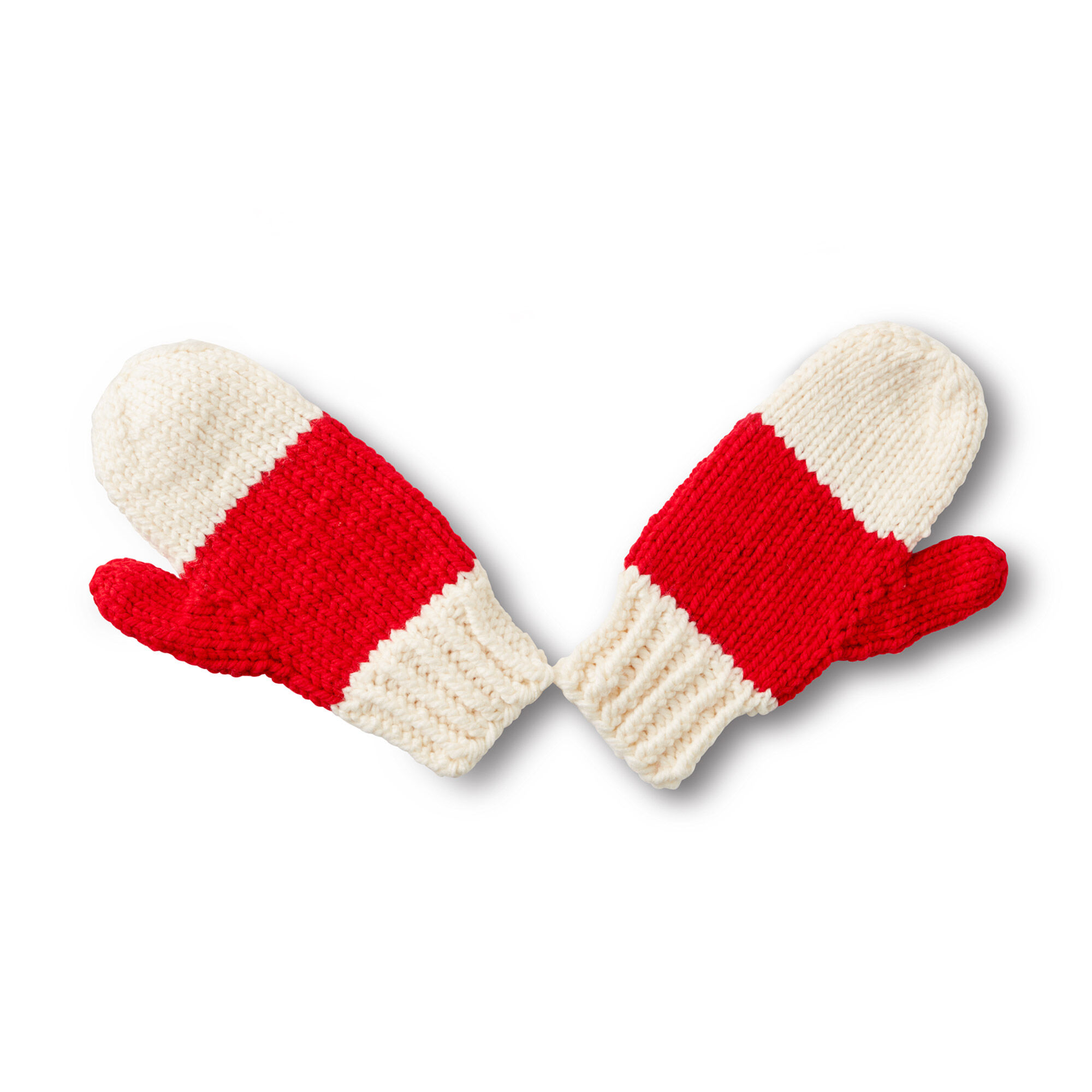 Bernat State your Nation Knit Mittens, 2 Color | Yarnspirations