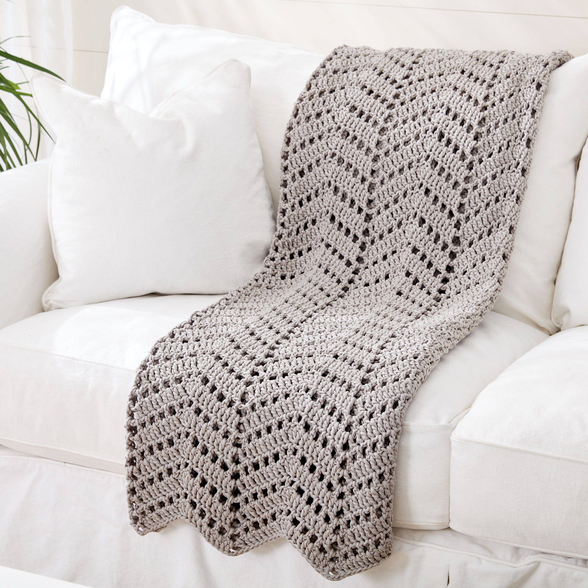 Bernat Ripples In The Sand Crochet Afghan | Yarnspirations
