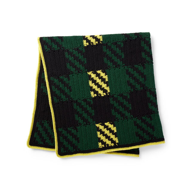 Bernat Check Please Blanket in color
