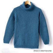 Caron Child's Crochet Turtle Neck Pullover, Size 2