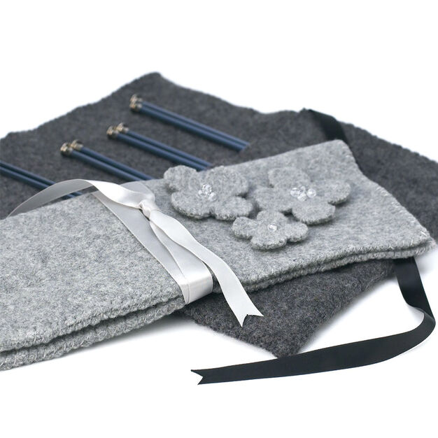 Patons Felted Knitting Needle Case in color