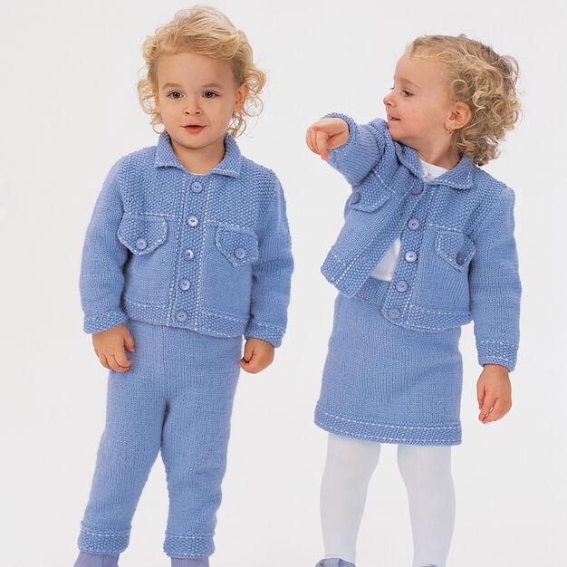 Bernat Jean Jacket Sets, Jacket - 6 months