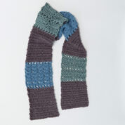 Go to Product: Red Heart Color-Block Crochet Scarf in color