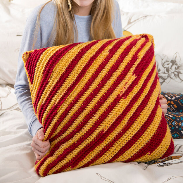 Red Heart Dorm Pillow in color