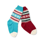 Patons Fair Isle Stockings , Version 1