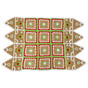 Red Heart Gingerbread House Throw