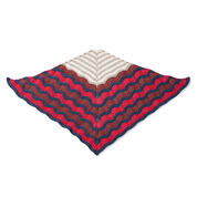 Caron x Pantone Old Shale Striped Knit Shawl
