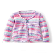 Caron Fun and Flouncy Knit Cardigan, 2 yrs