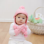 Red Heart Knit Baby Set, 6 mos