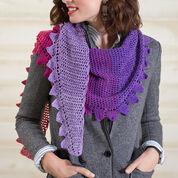Red Heart Side-to-Side Crochet Shawl