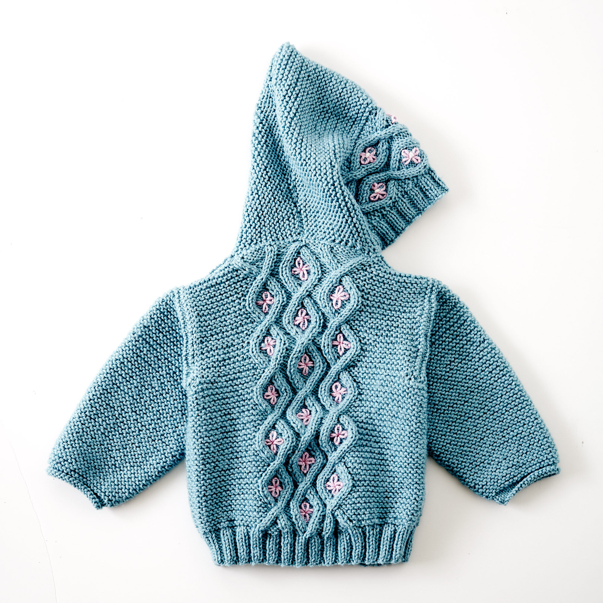 Patons Cabled Knit Cardigan, Boy 6 mos | Yarnspirations
