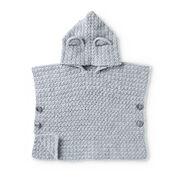 Bernat Teddy Bear Crochet Poncho, 6 mos