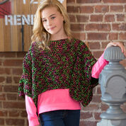 Red Heart Set the Trend Poncho