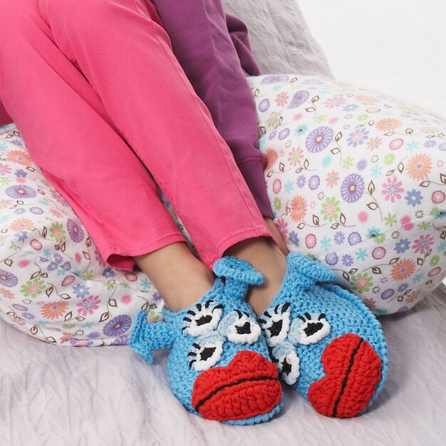 Phentex Blue Meanie Monster Slippers, XS in color