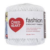 Red Heart Fashion Crochet Thread Size 3, White