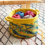 Bernat Dip Edge Crochet Basket in color
