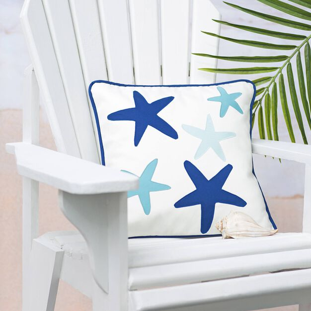 Dual Duty Starfish Pillow in color
