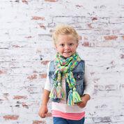 Red Heart Kid's Knit Drop-Stitch Scarf