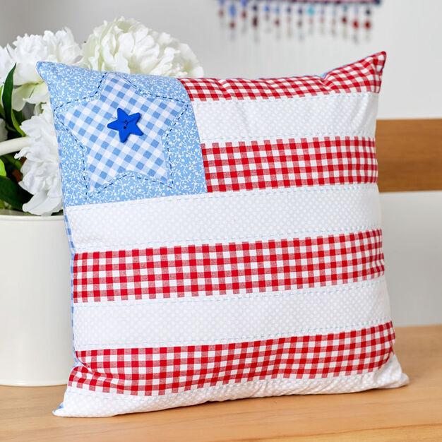 Coats & Clark Americana Patriotic Pillow in color