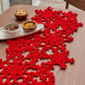 Red Heart Crocheted Snowflake Table Runner in color  Thumbnail Main Image 9}