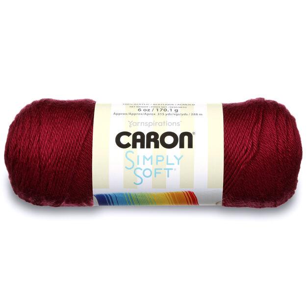 Caron Simply Soft Yarn Burgundy