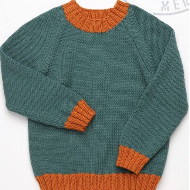 Red Heart Kid's Pullover, 2 yrs in color