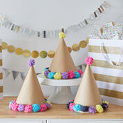 Red Heart Pompom Party Hats