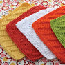 Lily Sugar'n Cream Diagonal Stitch Dishcloth, Yellow in color  Thumbnail Main Image 2}