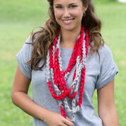 Red Heart Go Team Hand Chain Scarf