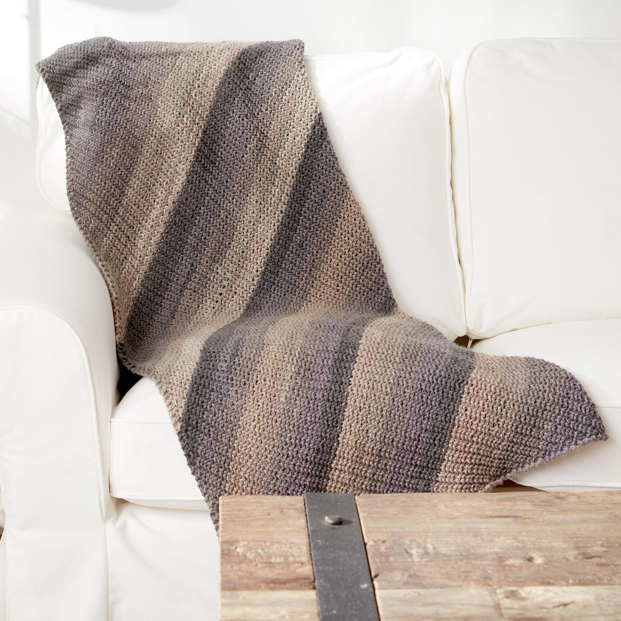 Caron Shake It Up Knit Blanket Pattern | Yarnspirations