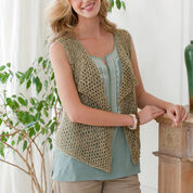 Red Heart Four Seasons Knit Vest, XS