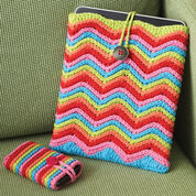Lily Sugar'n Cream Rainbow Stripes Tablet or Phone Case, Small