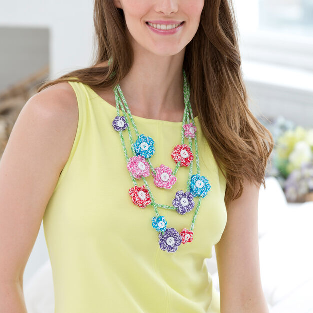 Aunt Lydia's Mod Flower Necklace in color