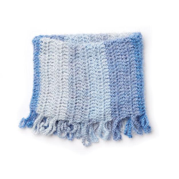 Caron Loopy Fringe Crochet Cowl
