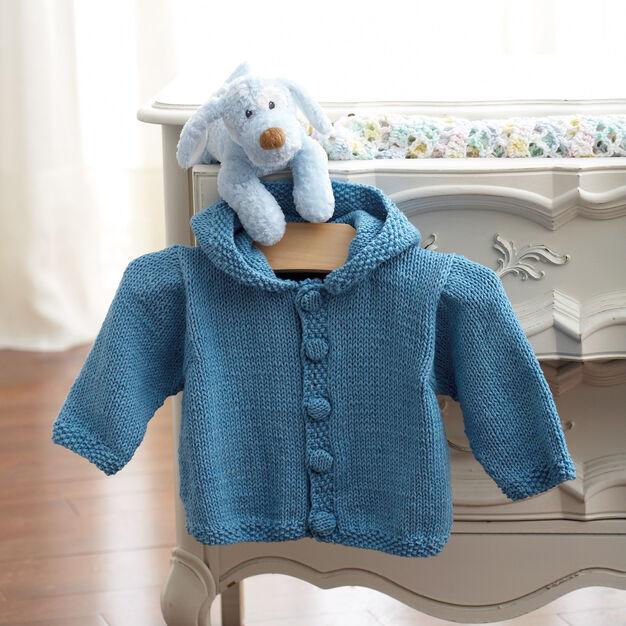 Bernat Knit Hoodie, 6 months in color