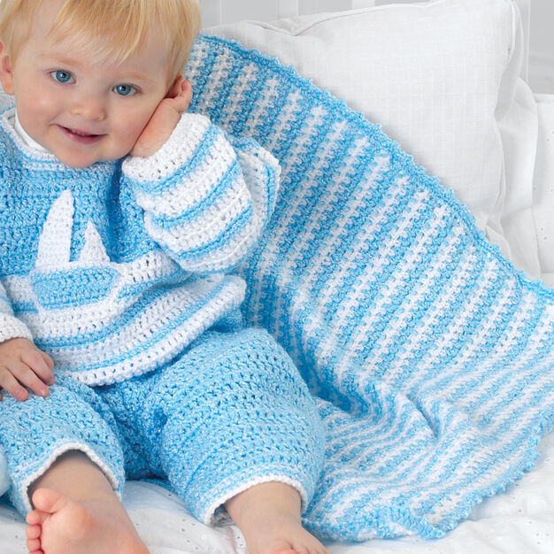Bernat Striped Blanket