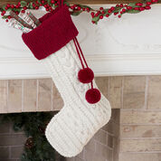 Red Heart Knit Cable Stocking