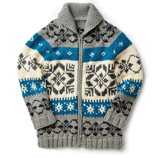 Patons Nordic Stag Knit Jacket Xss Pattern Yarnspirations