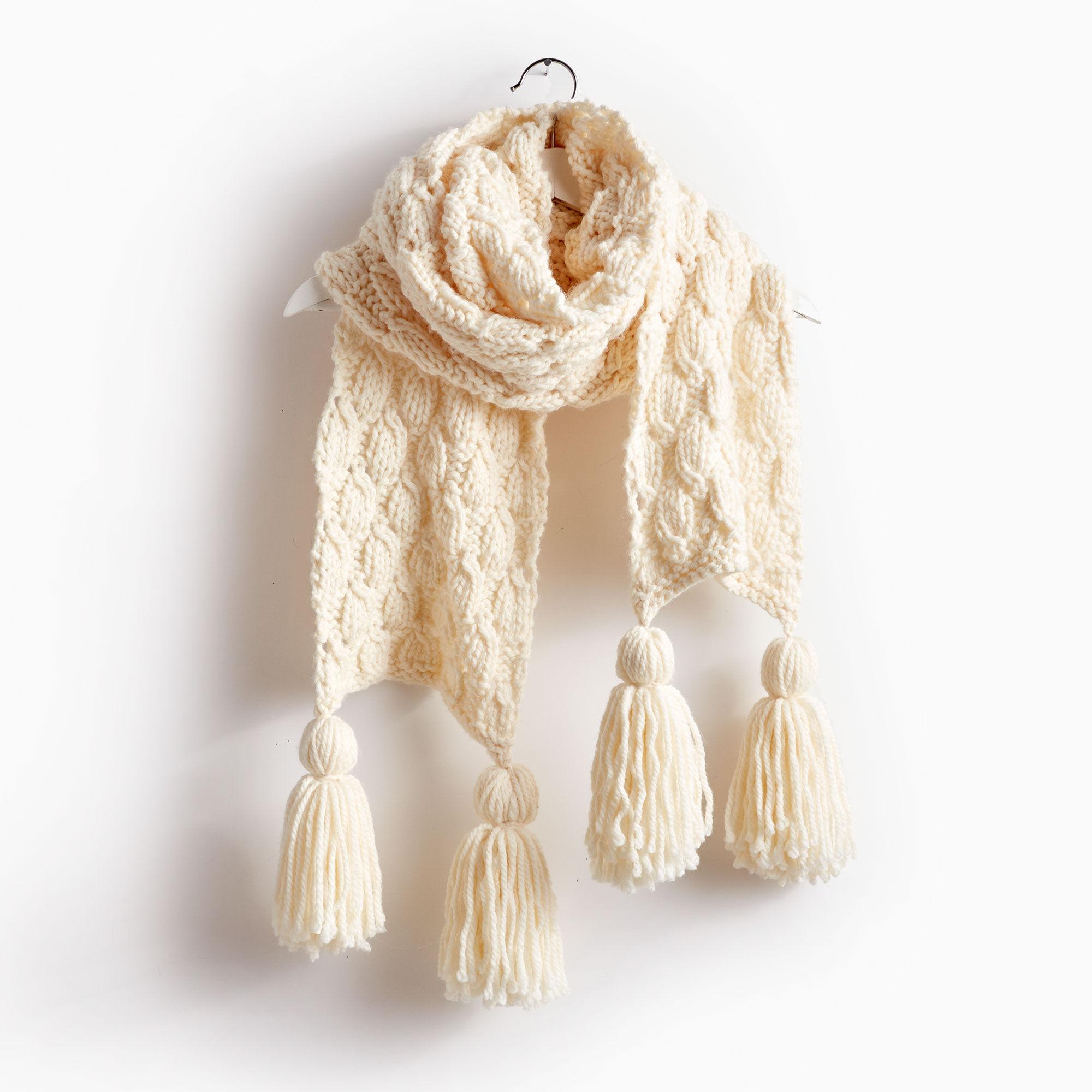 Bernat Make It Big Knit Super Scarf, Natural | Yarnspirations
