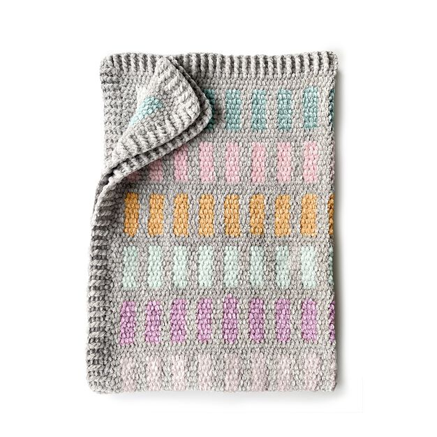 Bernat Crochet Chandelier Blanket in color