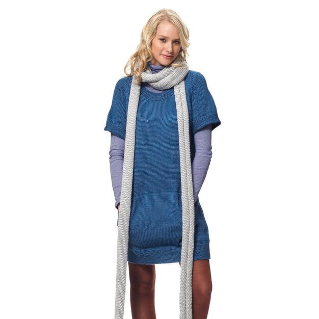 Bernat Dress with Kangaroo Pockets & Scarf, Dress - XS/S